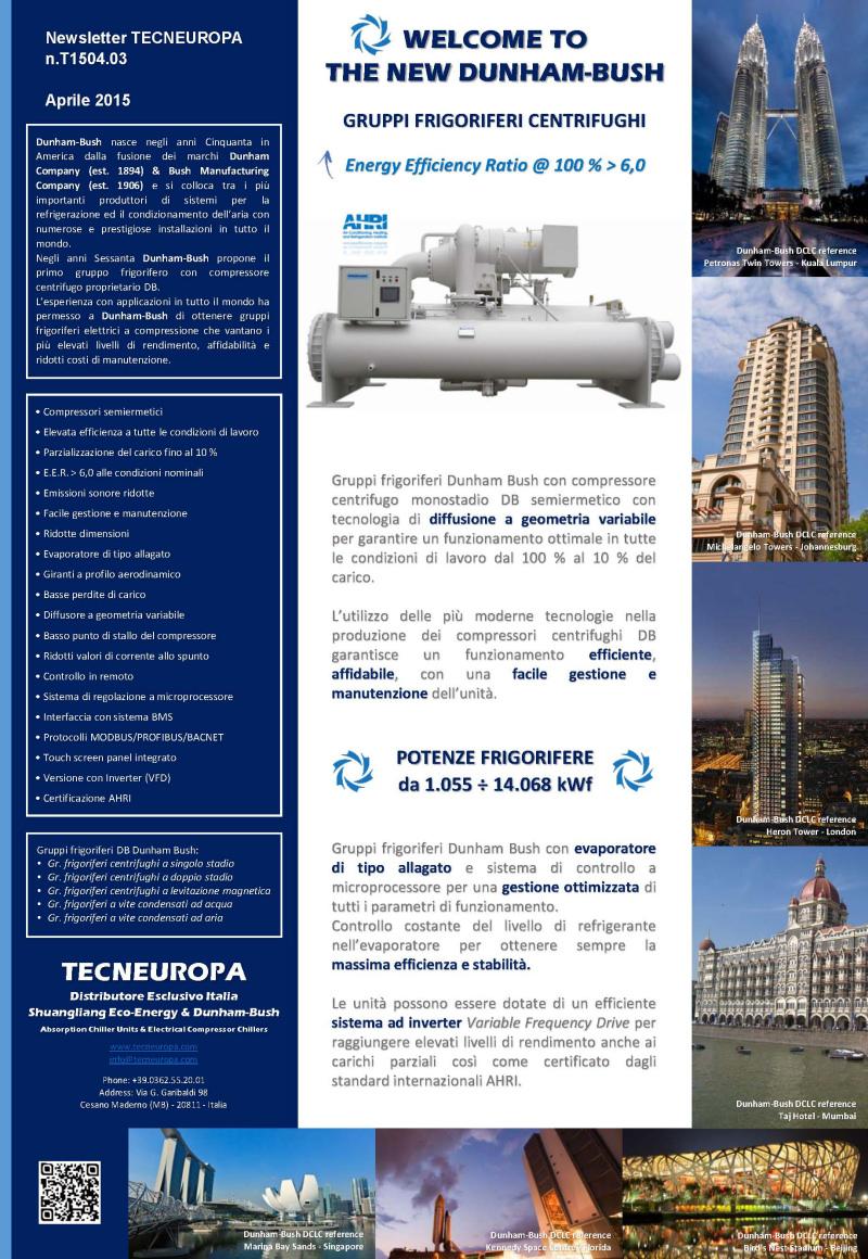 Tecneuropa newsletter Aprile 2015