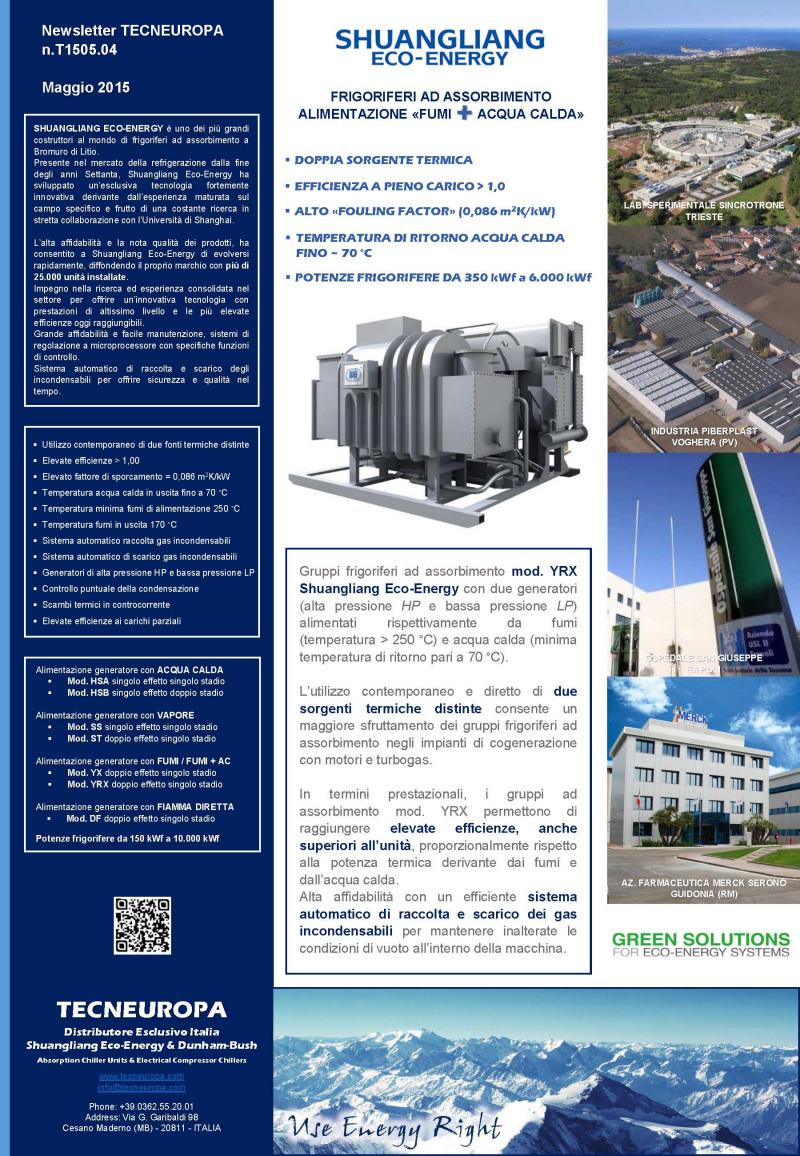 Tecneuropa newsletter Maggio 2015