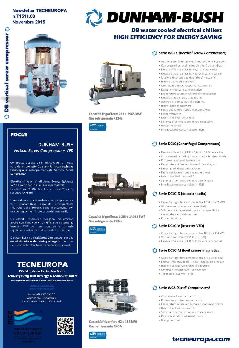 Tecneuropa newsletter Novembre 2015