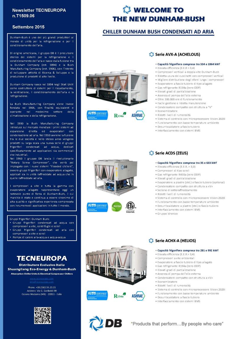 Tecneuropa newsletter Settembre 2015